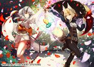 Velouria and Selkie joined art