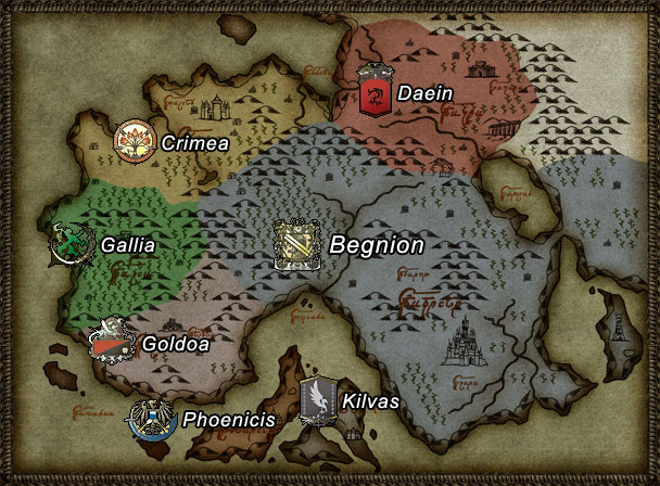 Tellius fire emblem wiki fandom powered by wikia a map of tellius the beorc nations in yellow blue and red gumiabroncs Choice Image
