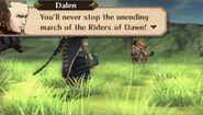 Dalen in battle