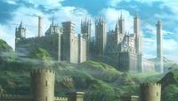 Monasterio de Garreg Mach en una cinemática - Fire Emblem Three Houses
