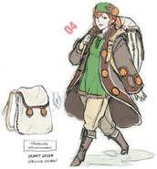Awakening Merchant Anna Concept Drawing