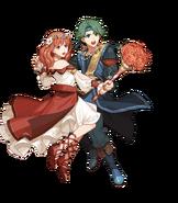 Alm Lovebird Duo Fight