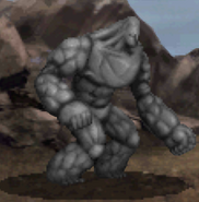 Stone Golem battle