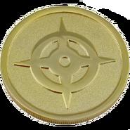 Cara de la moneda promocional con el símbolo de Hoshido