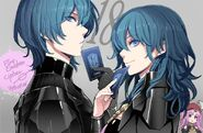Byleth byleth byleth and poe fire emblem and 2 more drawn by toyo sao b9314182946f2c5b01cfc226ad298d1c