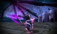 Takumi usando el Skadi - Fire Emblem Fates
