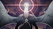 Ilustración de la Furia Blanca atacando a Byleth hombre - Fire Emblem Three Houses