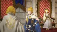 Rowan, Lianna y Yelena en el interior del castillo - Fire Emblem Warriors