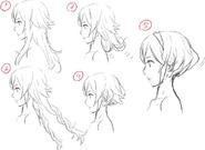 Lucina Hair Concept Art
