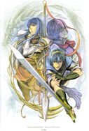 Marth, Caeda, and Katarina (Memorial Book Archanea Chronicle)