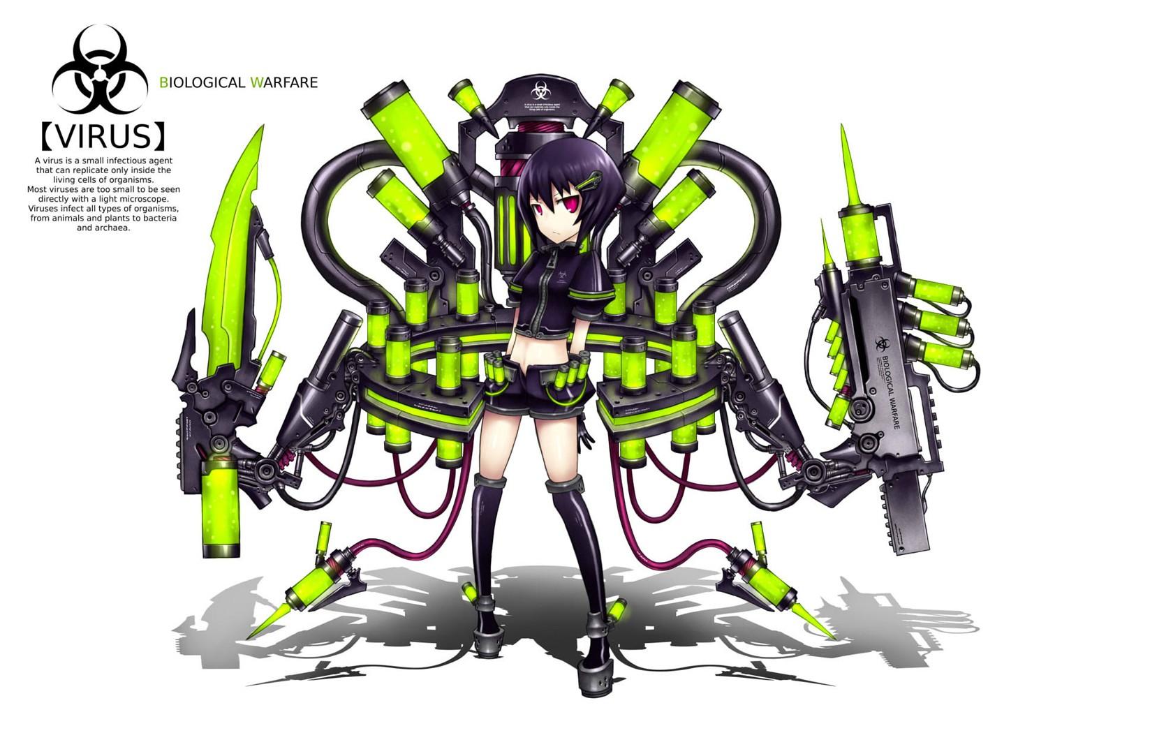 Blade Pixiv Gia Artist Virus Biological Warfare Anime Desktop 1680x1050 Hd Wallpaper 1208479