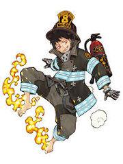 Shinra en tenue de la 8ème brigade