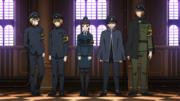 Maki escortant les nouvelles recrues vers la compagnie 1