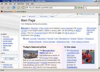 Mozilla Firefox 1.0 front page screenshot