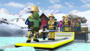 Inflatable rescue path retrive