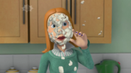 Lizzie Sparkes covered in cream