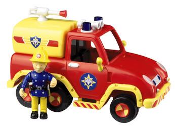 New Fireman Sam Friction Jupiter Fire Engine With Articulated Sam Figure