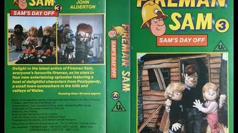 Fireman Sam 3 - Sam's Day Off VHS (1988)