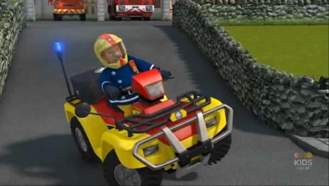 Image  Station Officer Steele driving Mercurypng  Fireman Sam