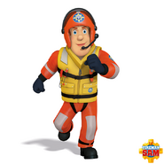 Fireman Sam in lifeguard uniform