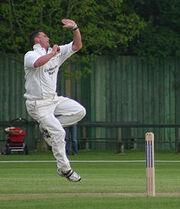 Darren Gough bowling
