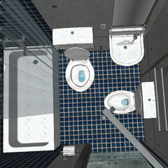 updated model of bathroom layout