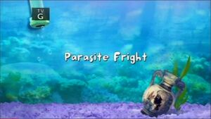 Parasite fright title card
