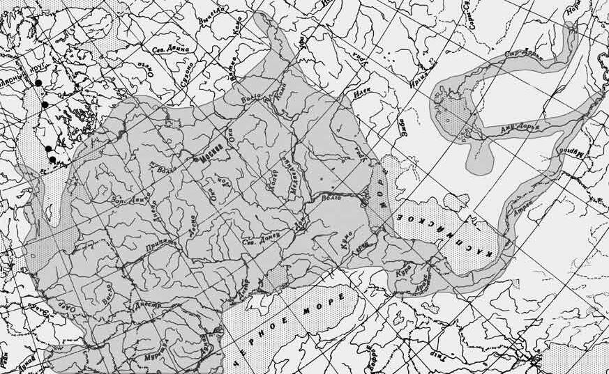 Карта поширення чехоні