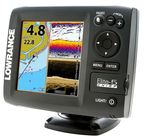 Lowrance Elite-5 CHIRP 83 200 455 800