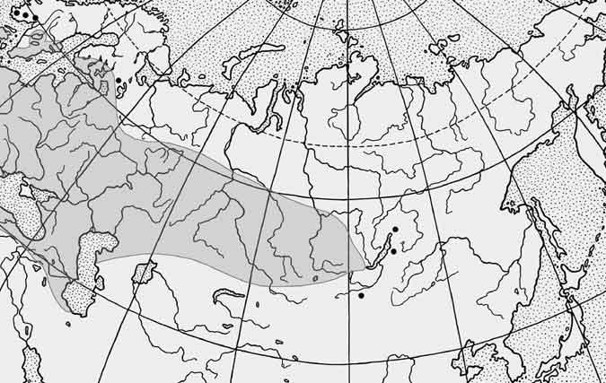 Карта поширення лина