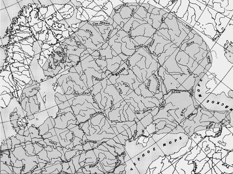 Карта поширення густери
