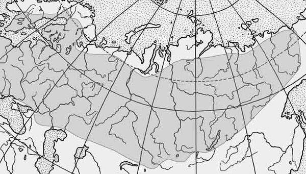 Карта поширення єльця