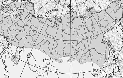 Карта поширення миня
