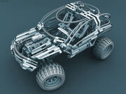 Hi-Tech Cyborg Jeep