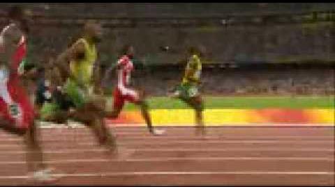 Beijing Olympics Usain Bolt 100m Finals Winner