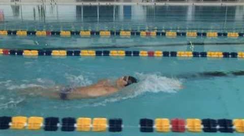 Backstroke Technique - Side View - Krayzelburg, Phelps, Lochte