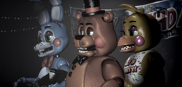 Toy Bonnie in the show stage