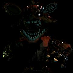 Phantom Foxy como es visto en el Menú Extra
