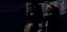 Toy Freddy y Toy Chica en el Show Stage