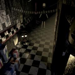 Phantom Puppet en la CAM 08, nótese que posee su diseño en Five Nights At Freddy's 2