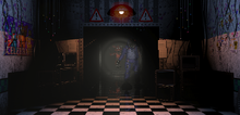 Fxoy y Bonnie en el pasillo