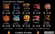 FNaF 2 Codigo GoldenFreddy