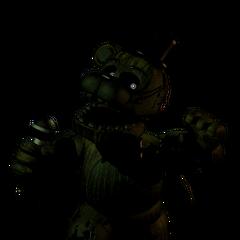 Phantom Freddy como es visto en el Menú Extra