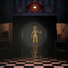 <b>Toy Chica</b> en el pasillo