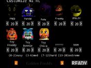 Five Nights at Fredbear's Remains Custom Night