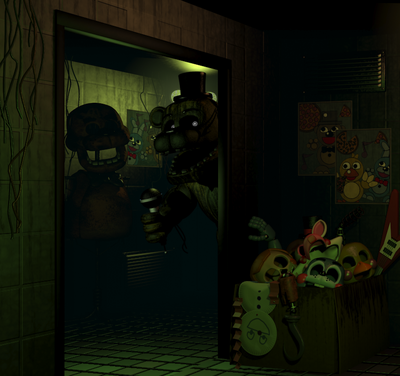 Phantom Freddy outside of the Office 2