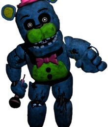 Blacklight withered freddy