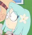 Alumna con una flor