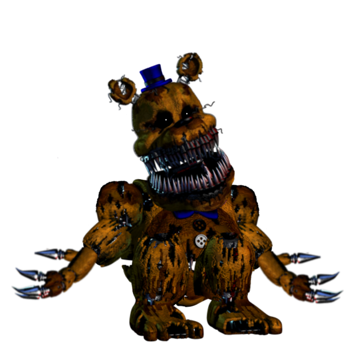 Image - Nightmare golden freddy fnaf 1 version.png | Five ...