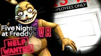 SPRING BONNIE'S TRUE NAME THE SECRET GOOD ENDING PATH FOUND!! FNAF VR Help Wanted-1